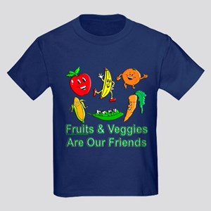 Fruits & Veggies Kids Dark T-Shirt