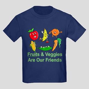 Fruits & Veggies Kids Dark T-Shirt