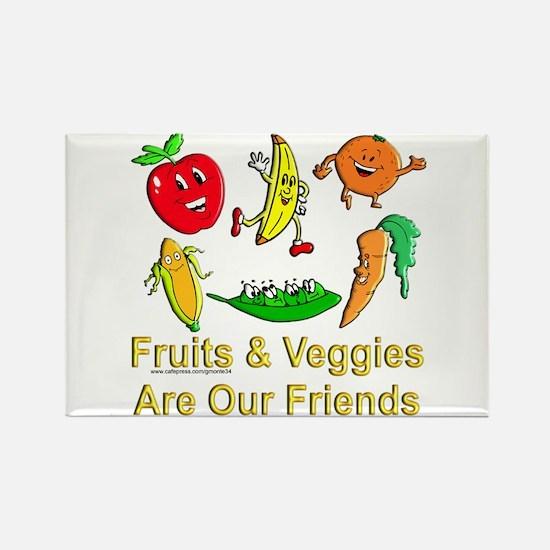 Fruits & Veggies Rectangle Magnet