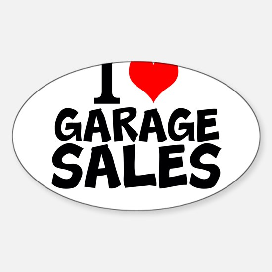 I Love Garage Sales Decal