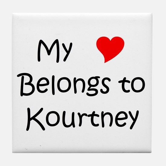 Funny Kourtney Tile Coaster