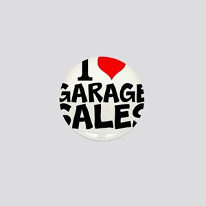 I Love Garage Sales Mini Button