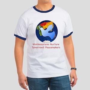 Montessorians Nurture Peacemakers Ringer Tee