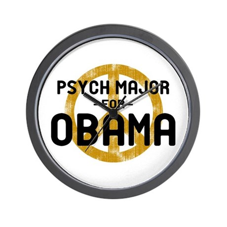 Psych Major for Obama Wall Clock