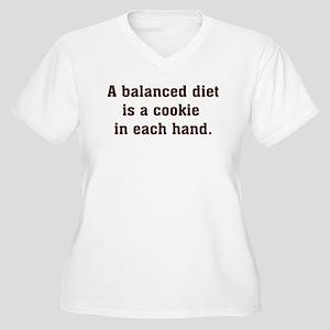 Balanced Diet Women's Plus Size V-Neck T-Shirt