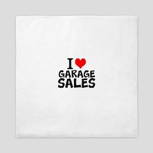 I Love Garage Sales Queen Duvet