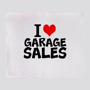 I Love Garage Sales Throw Blanket