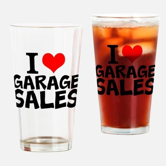 I Love Garage Sales Drinking Glass
