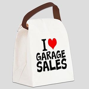 I Love Garage Sales Canvas Lunch Bag