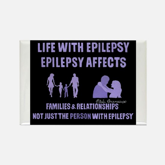 EPILEPSY AFFECTS Rectangle Magnet