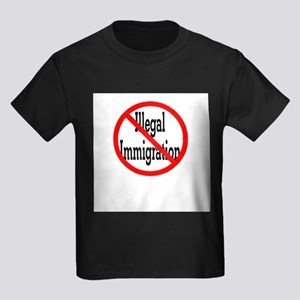 No Illegal Immigration Ash Grey T-Shirt
