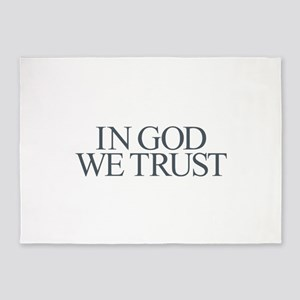 In God We Trust 5'x7'Area Rug