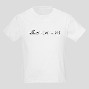 Faith + IVF = Me! Kids Light T-Shirt