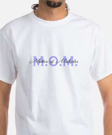 MOM Blue White T-Shirt