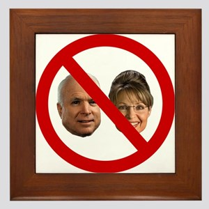 No McCain-Palin Framed Tile