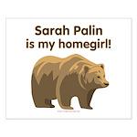 Sarah Palin Homegirl Small Poster
