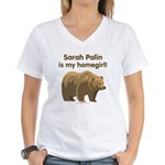 Sarah Palin Homegirl Women's V-Neck T-Shirt