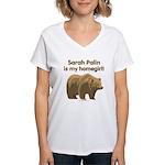 Sarah Palin Homegirl Women's V-Neck T-Shirt
