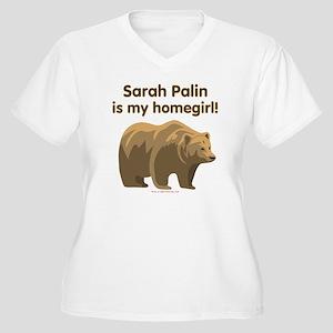 Sarah Palin Homegirl Women's Plus Size V-Neck T-Sh