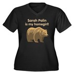 Sarah Palin Homegirl Women's Plus Size V-Neck Dark