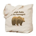 Sarah Palin Homegirl Tote Bag