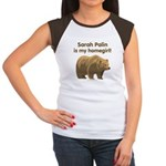 Sarah Palin Homegirl Women's Cap Sleeve T-Shirt