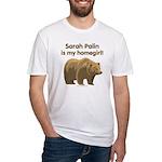 Sarah Palin Homegirl Fitted T-Shirt