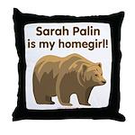 Sarah Palin Homegirl Throw Pillow