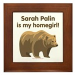 Sarah Palin Homegirl Framed Tile
