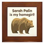 Sarah Palin Homegirl Framed Tile