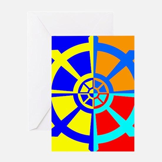 Dharma Wheel Greeting Card