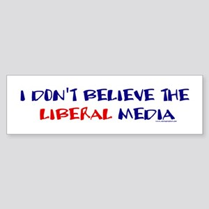 Liberal Media Bumper Sticker
