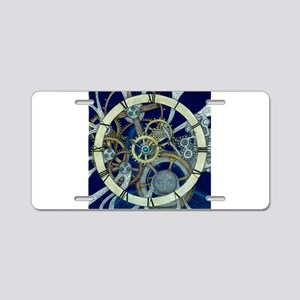 Gears and Cogs Aluminum License Plate