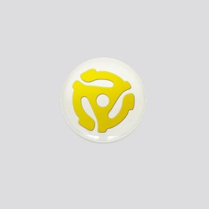 Yellow 45 RPM Adapter Mini Button