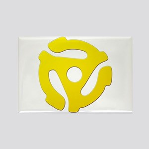 Yellow 45 RPM Adapter Rectangle Magnet