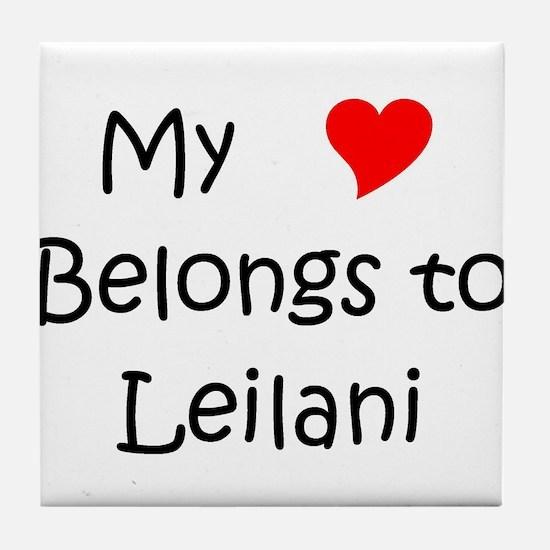 My heart belongs roseanne Tile Coaster