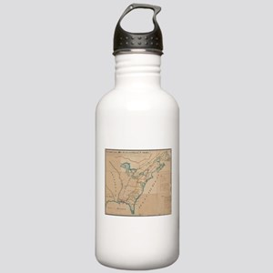 Vintage Map of British Stainless Water Bottle 1.0L