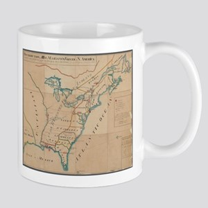 Vintage Map of British Forces in America (176 Mugs