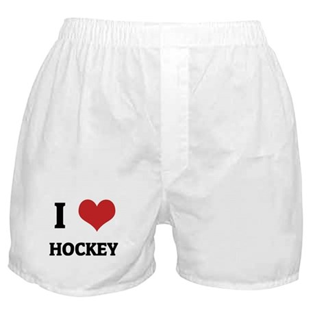 I Love Hockey Boxer Shorts