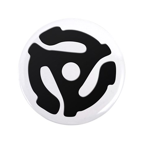 """Black 45 RPM Adapter 3.5"""" Button (100 pack)"""