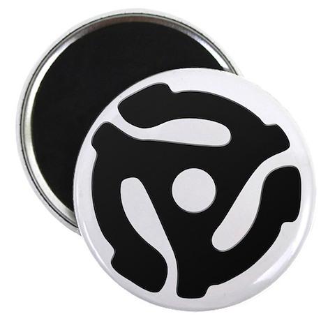 Black 45 RPM Adapter Magnet
