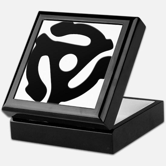 Black 45 RPM Adapter Keepsake Box