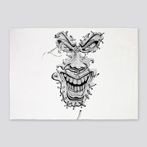 The evil face 5'x7'Area Rug