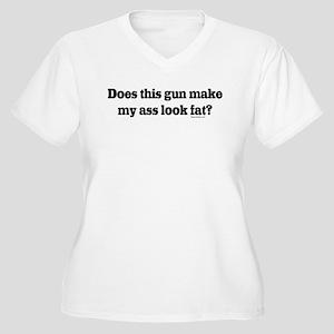 Gun Make My Ass Look Fat Women's Plus Size V-Neck