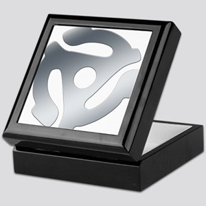 Silver 45 RPM Adapter Keepsake Box