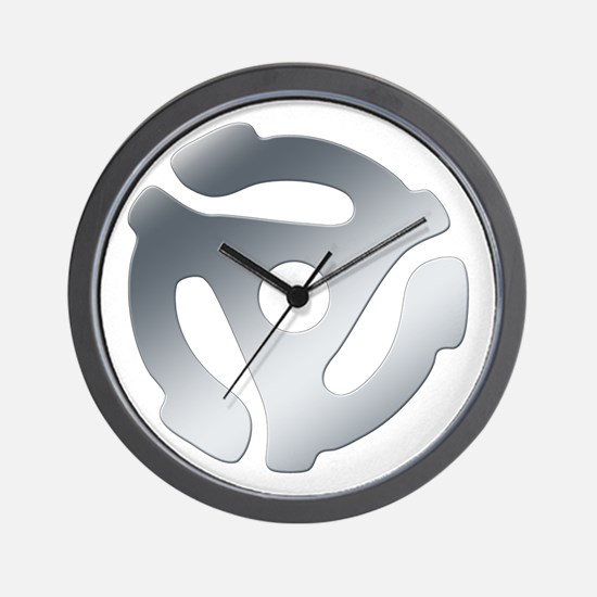 Silver 45 RPM Adapter Wall Clock