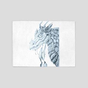 The evil dragon 5'x7'Area Rug