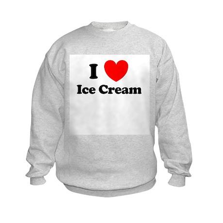 I Love Ice Cream Kids Sweatshirt