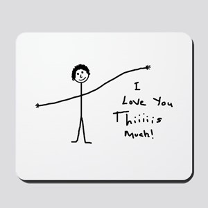 'I Love You' Mousepad