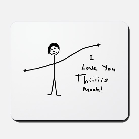 'I Love You' Mousepad
